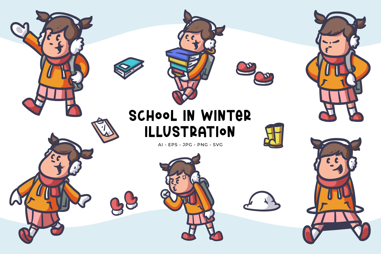 School Girl Illustrations example image 1