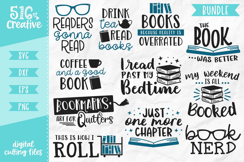Download Book Lover Bundle 11 Designs SVG DXF EPS PNG (224513 ...