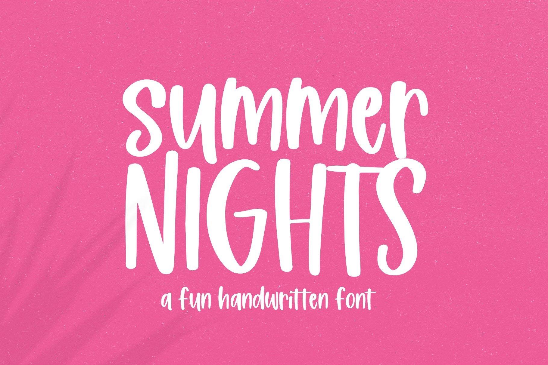 Web Font Summer Nights - A Fun Handwritten Font example image 1