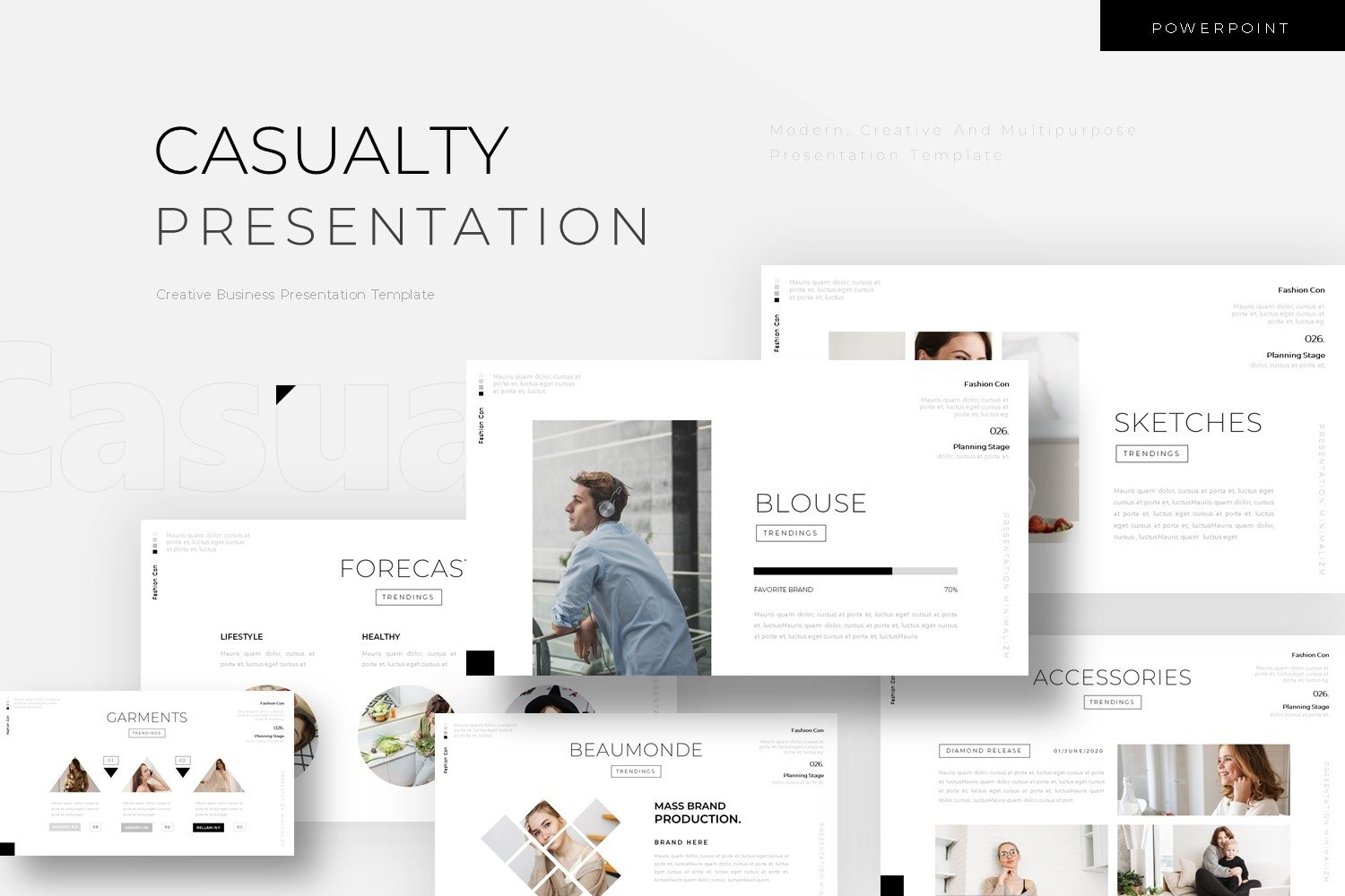 Casualty Minimalizm - Powerpoint Template example image 1