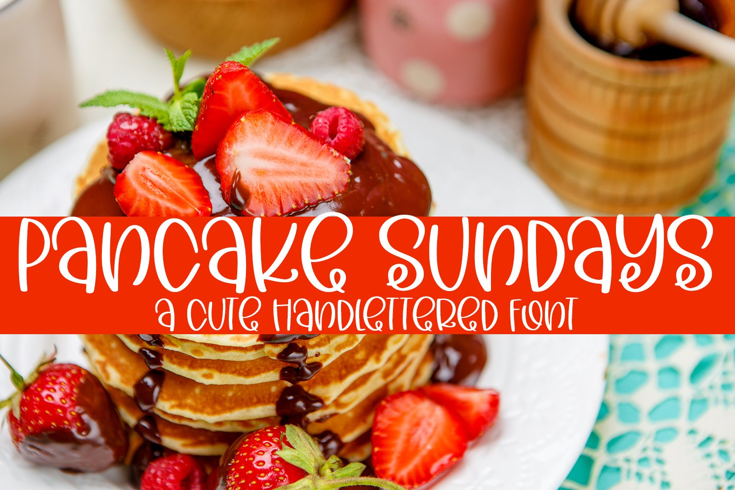 Pancake Sundays - A Cute Hand-Lettered Font example image 1