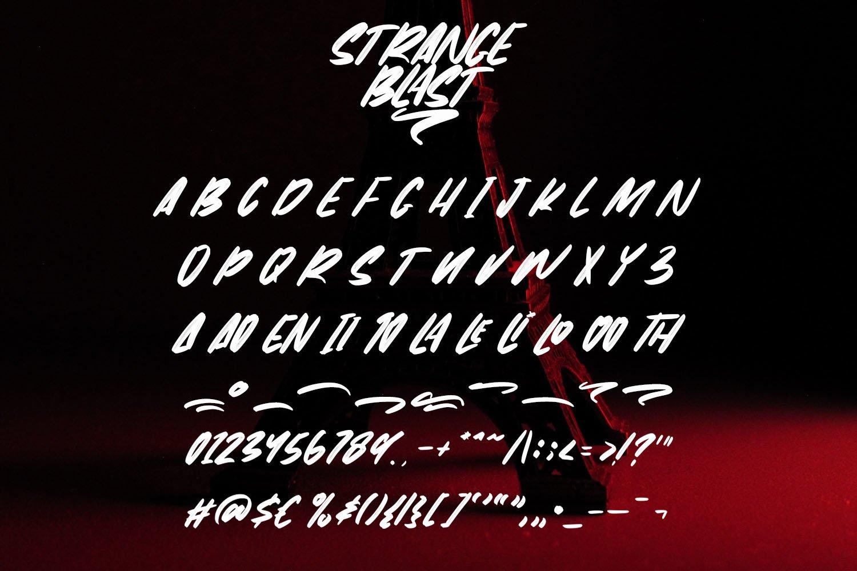 StrangeBlast- Brush Font example image 6