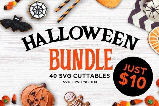 Halloween bundle 40 SVG , Eps, Dxf, Png for Cricu