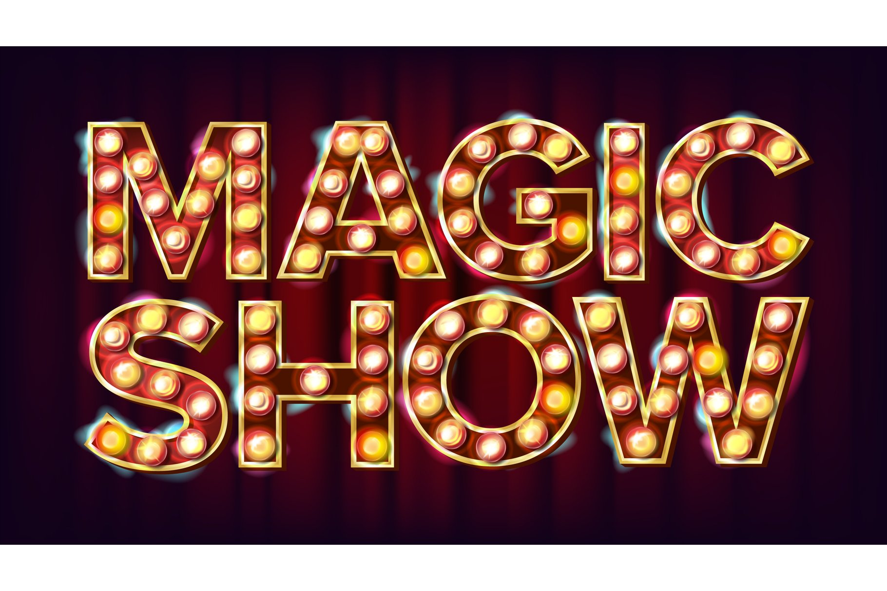 Magic Show Banner Sign Vector. For Arts Festival Events example image 1