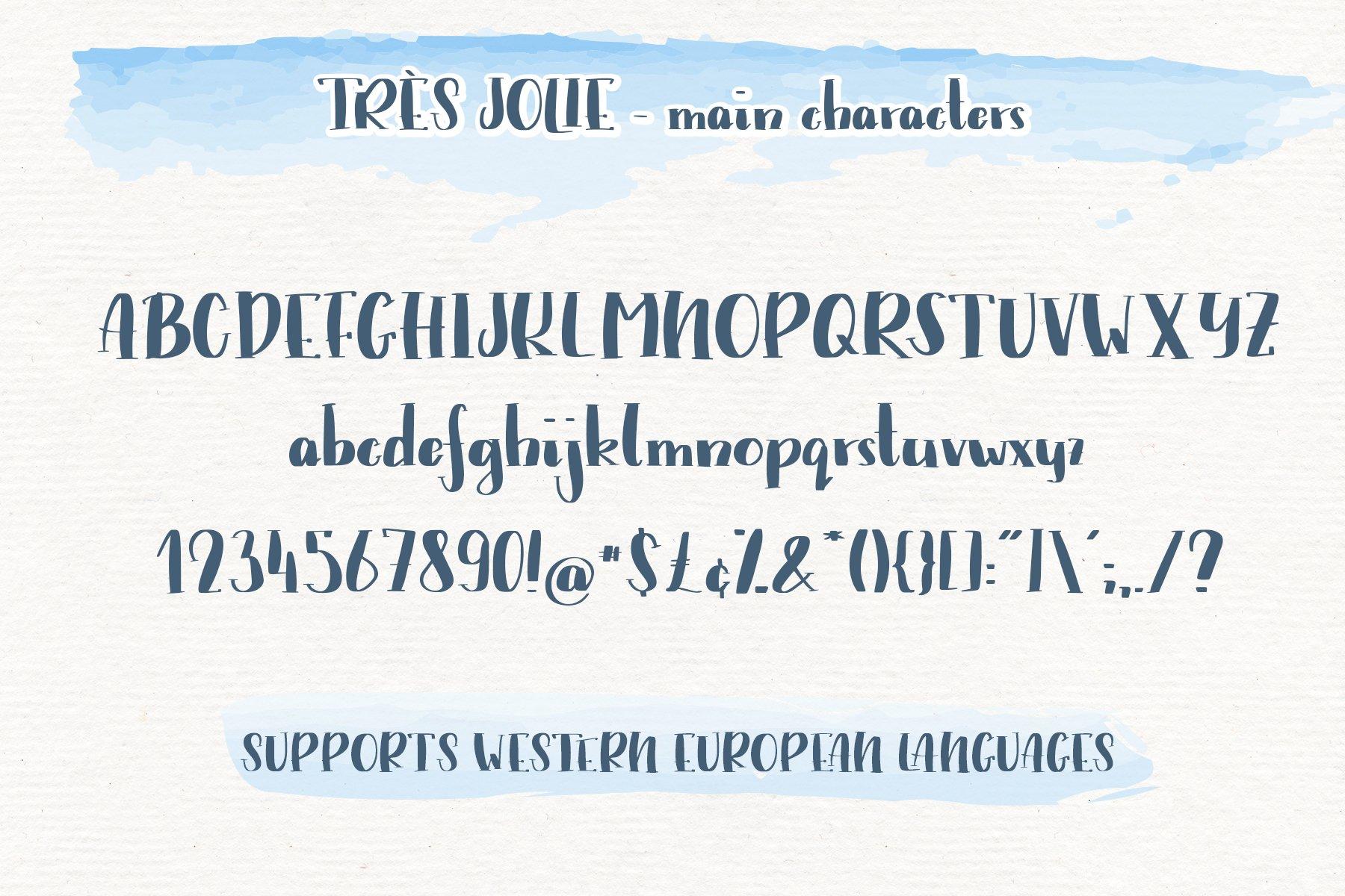 Trés Jolie - Serif Font with Doodles example image 2
