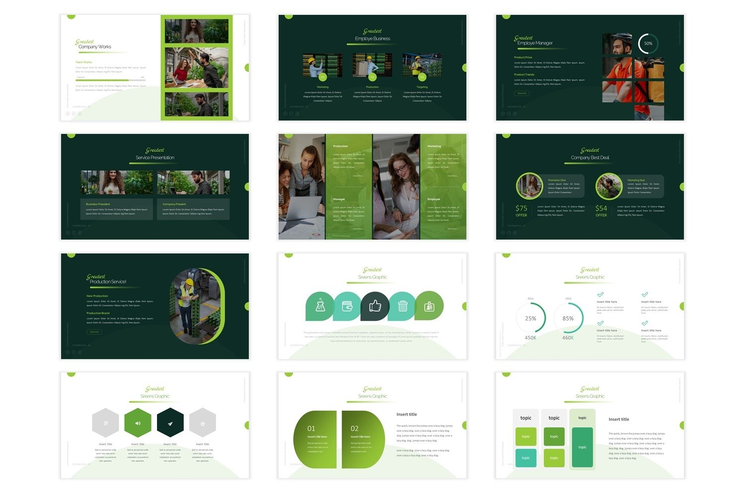 Greatest - Powerpoint Template example image 4