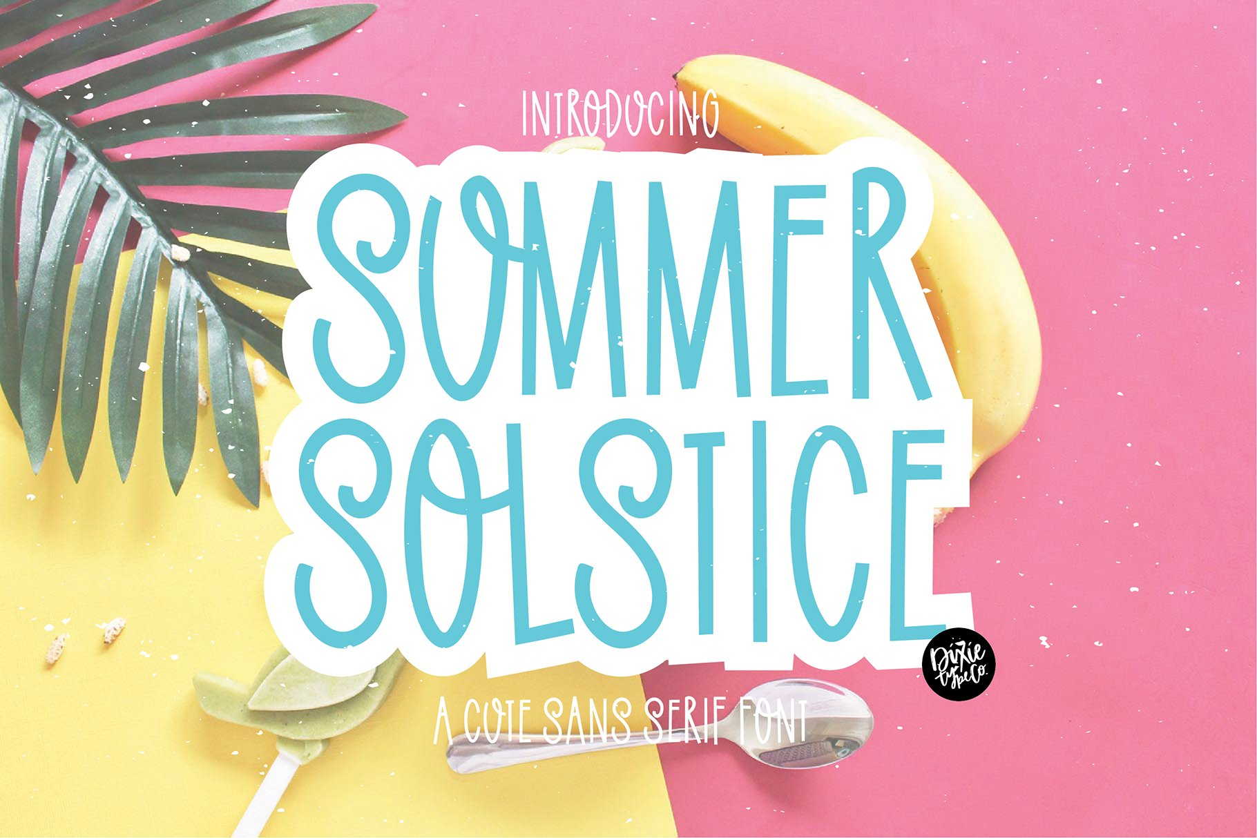 SUMMER SOLSTICE a Cute Sans Serif Font example image 1