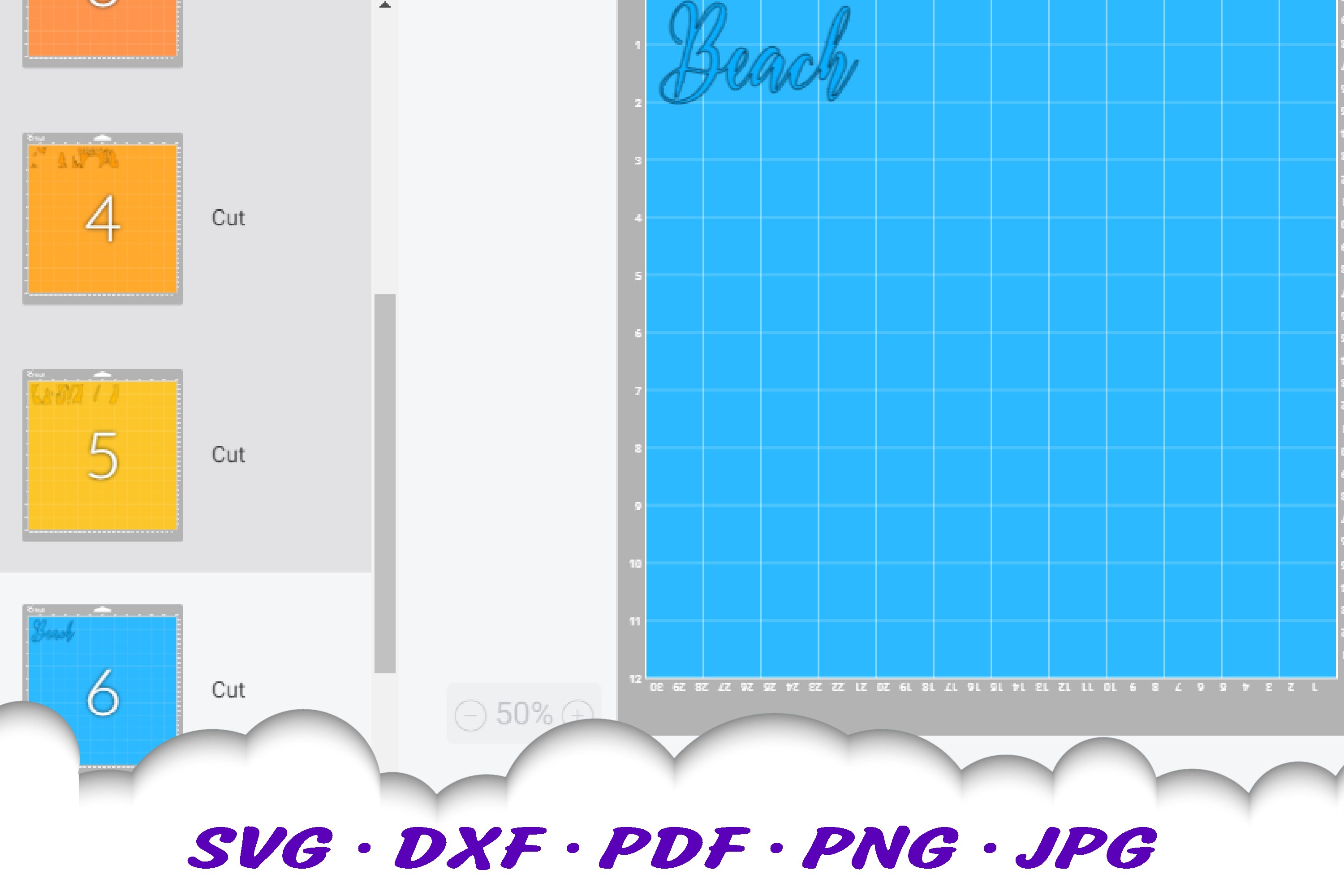 The Beach Is My Happy Place Sunset SVG Flip Flops Cut Files example image 2