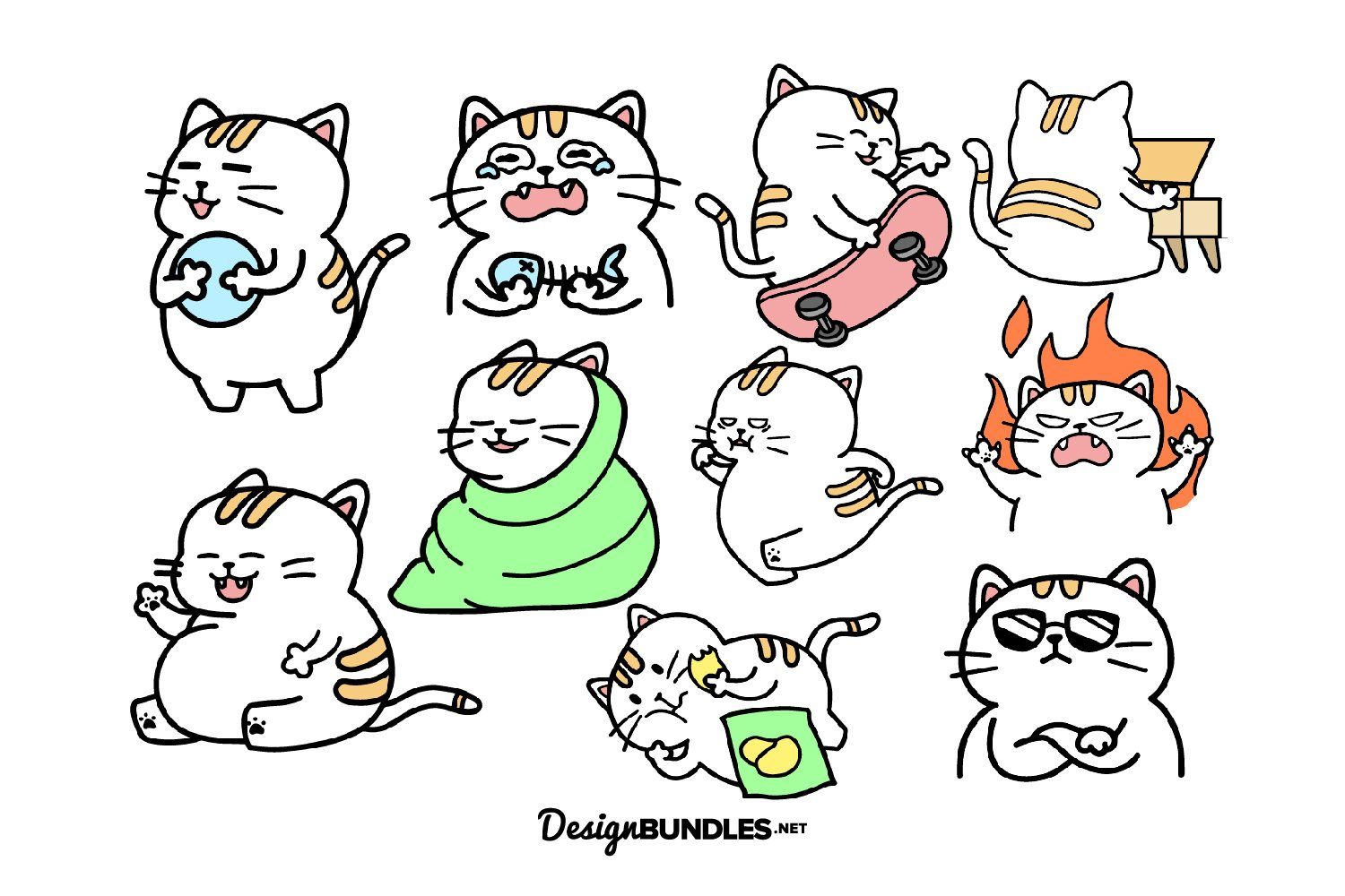 Cat Activities illustrations example image 1