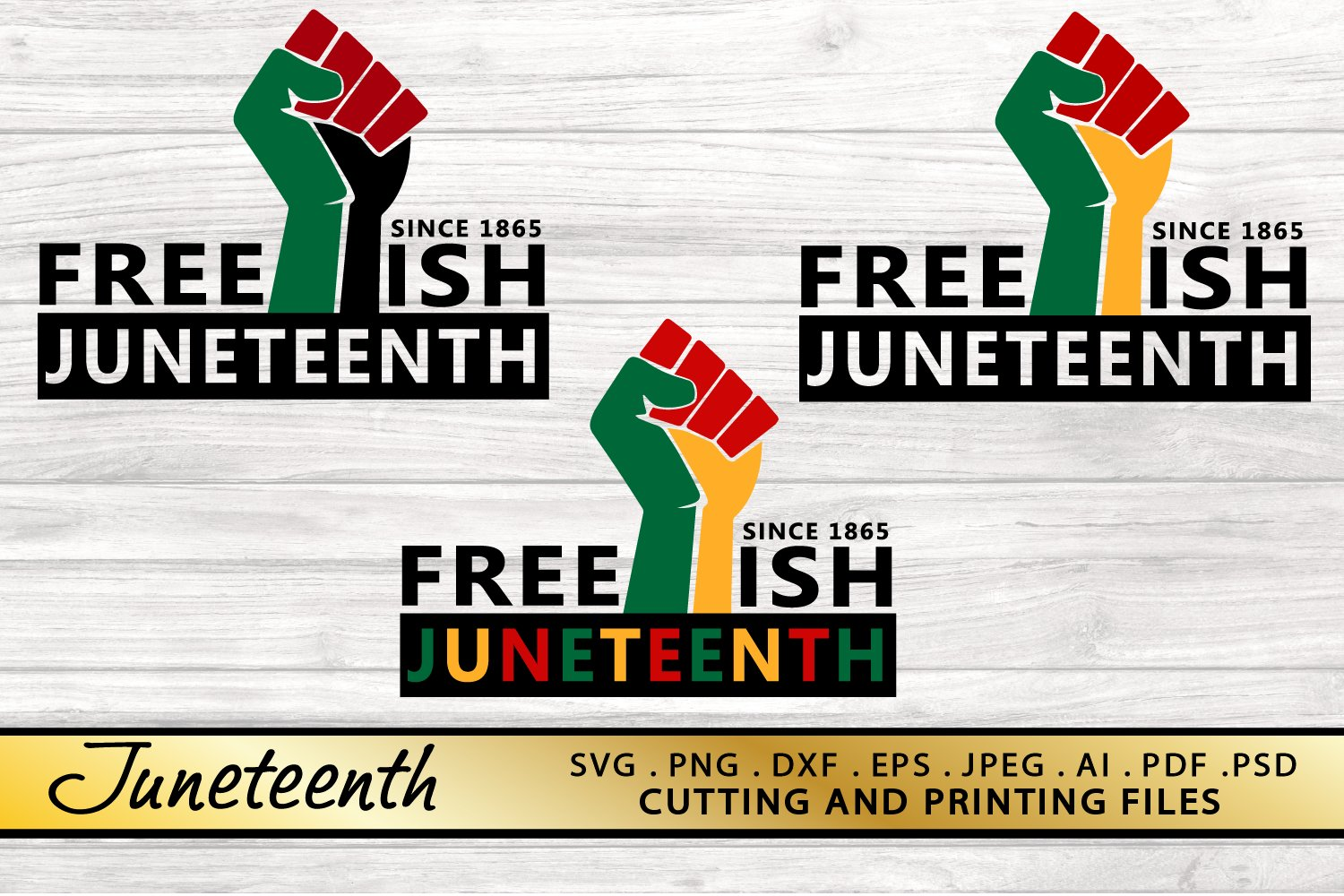 Juneteenth SVG PNG DXF EPS Files for Cutting and Printing example image 4