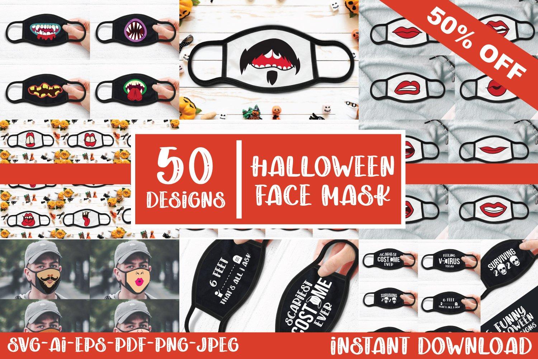 50 Halloween Face Mask Designs Svg Ai Eps Png Jpeg Pdf 808340 Illustrations Design Bundles