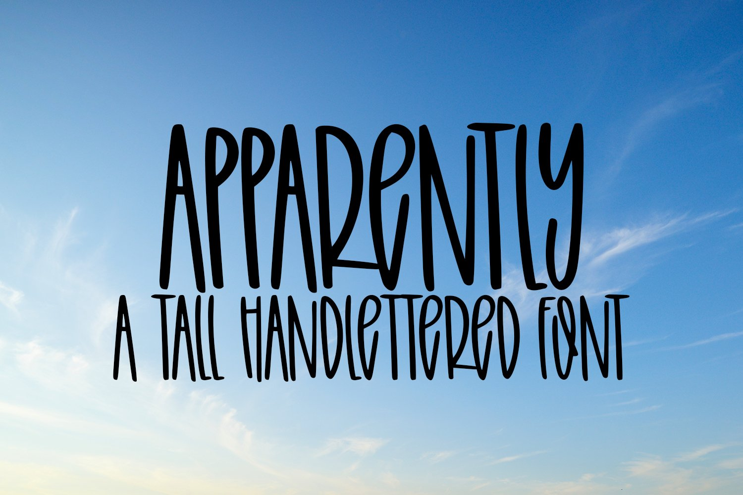 Apparently - A Tall Hand-Lettered Font example image 1