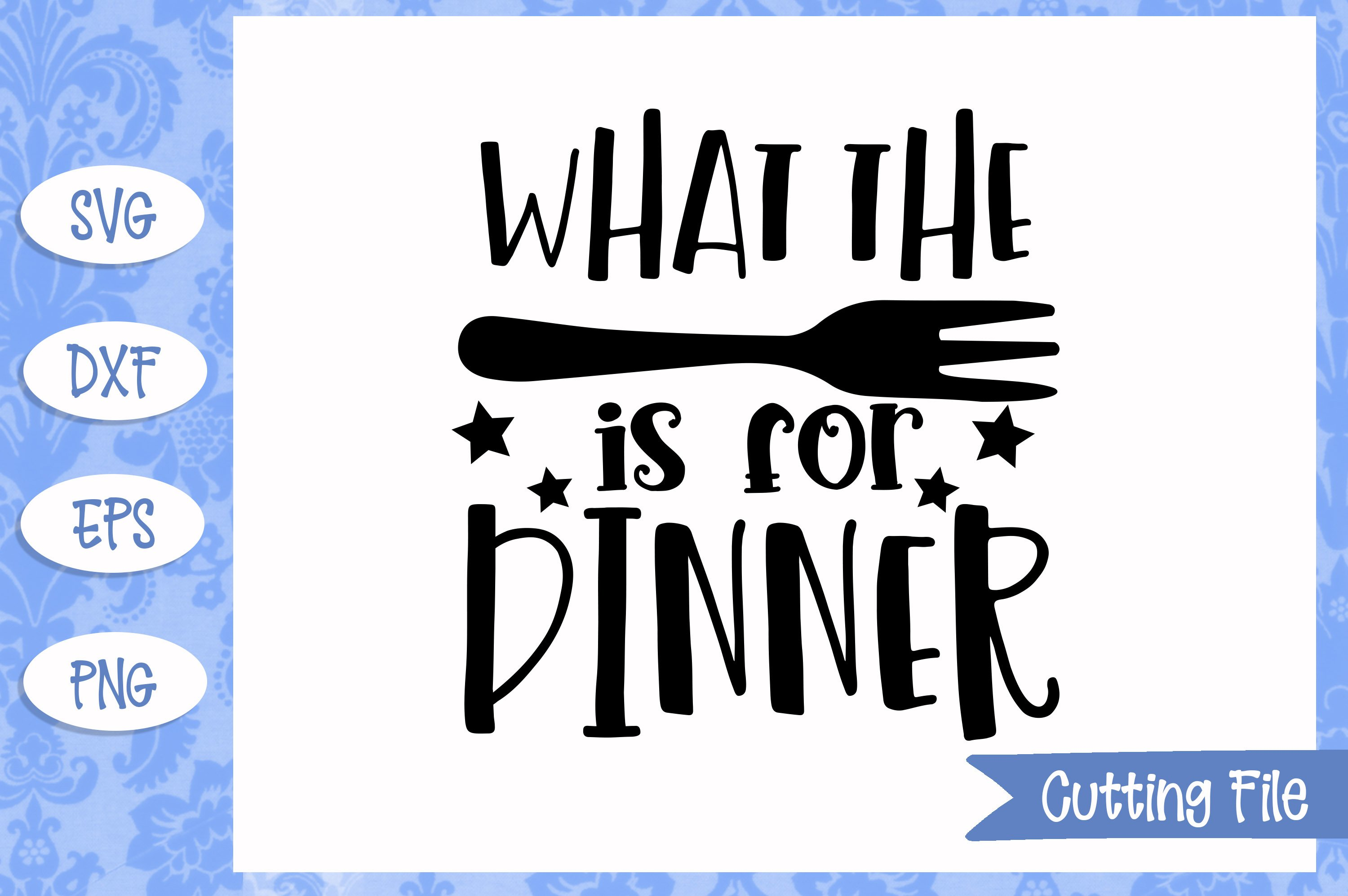 What the fork is for dinner SVG File example image 1