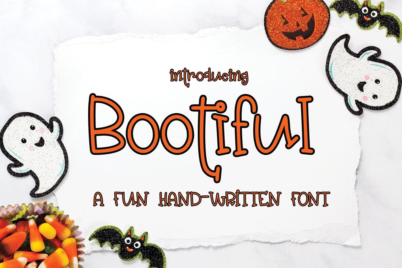 Bootiful - A Fun Hand-Written Font example image 1