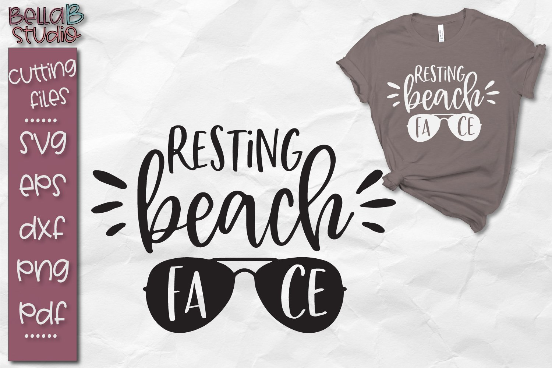Resting Beach Face Svg Beach Summer Funny 96830 Svgs Design Bundles