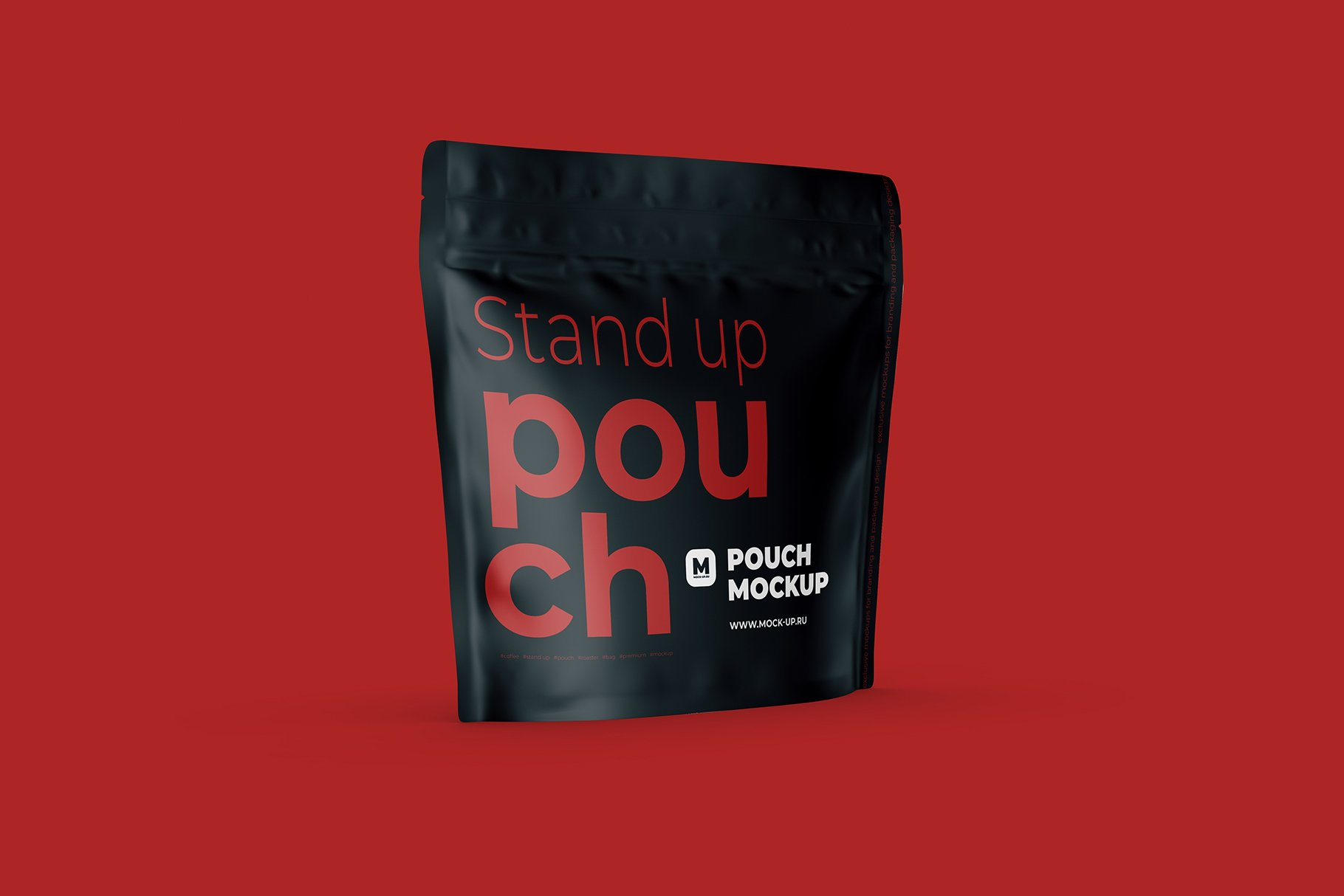Zip Stand-up Pouch Mockup square example image 2