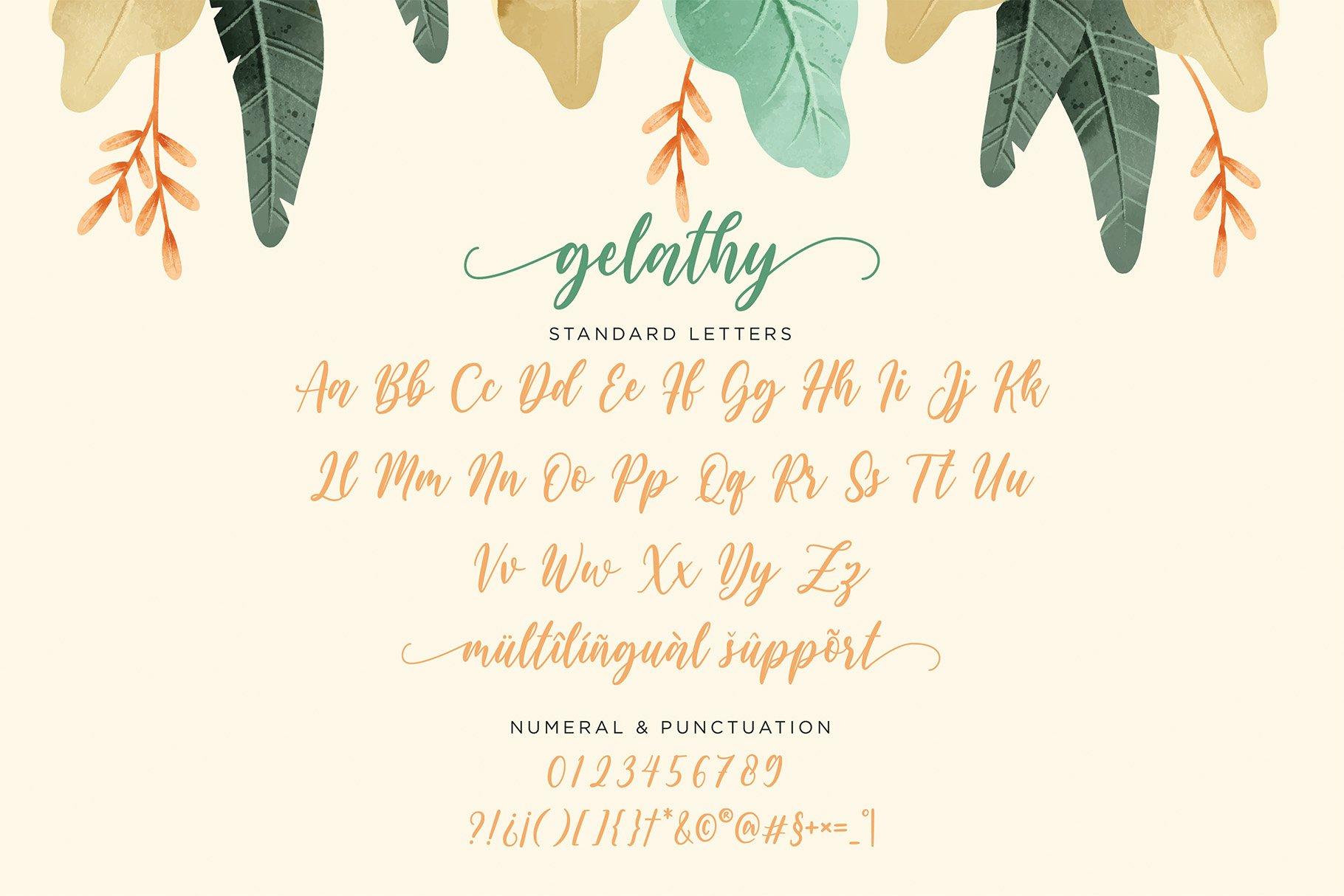 Gelathy - Modern Calligraphy example image 5
