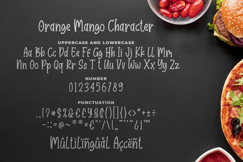Orange Mango - Cute Serif Font example image 5