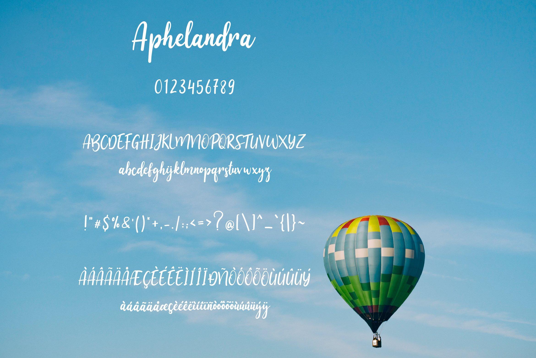 Aphelandra Font example image 5
