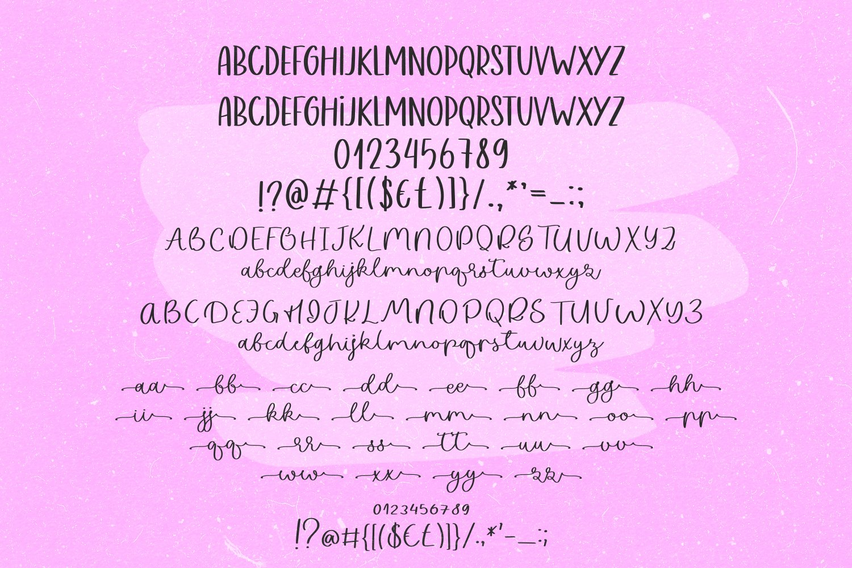 Pink Lake Font Duo example image 4