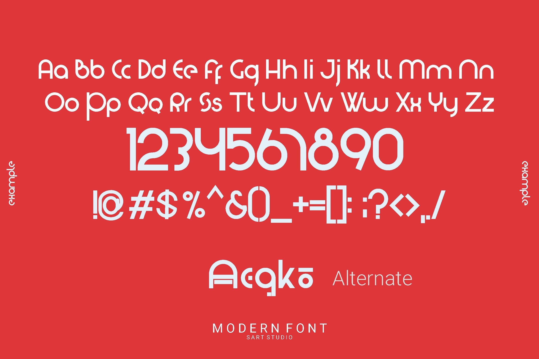Washington - Modern Display Font example image 2