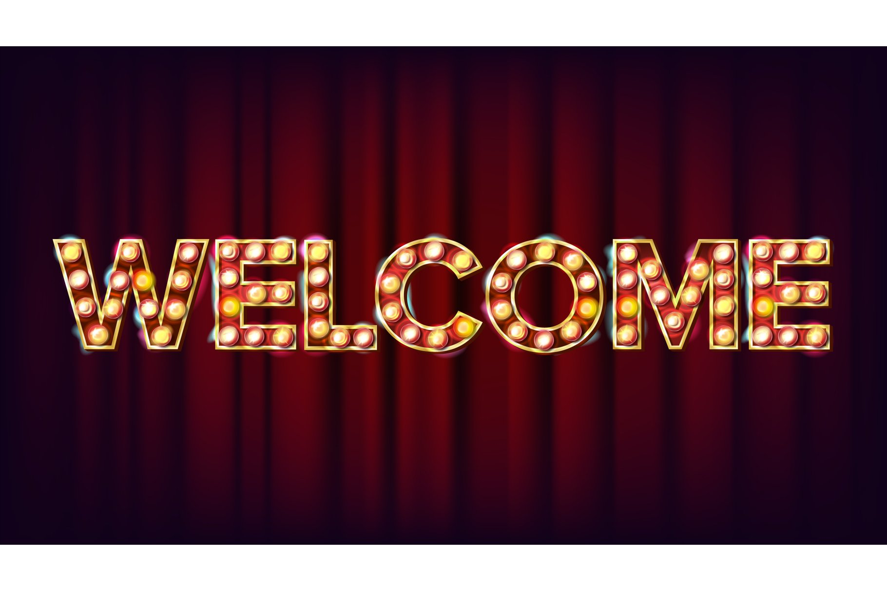 Welcome Banner Sign Vector. For Banner example image 1