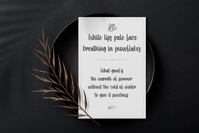 Winter Kisses - Handwritten Script Font example image 3