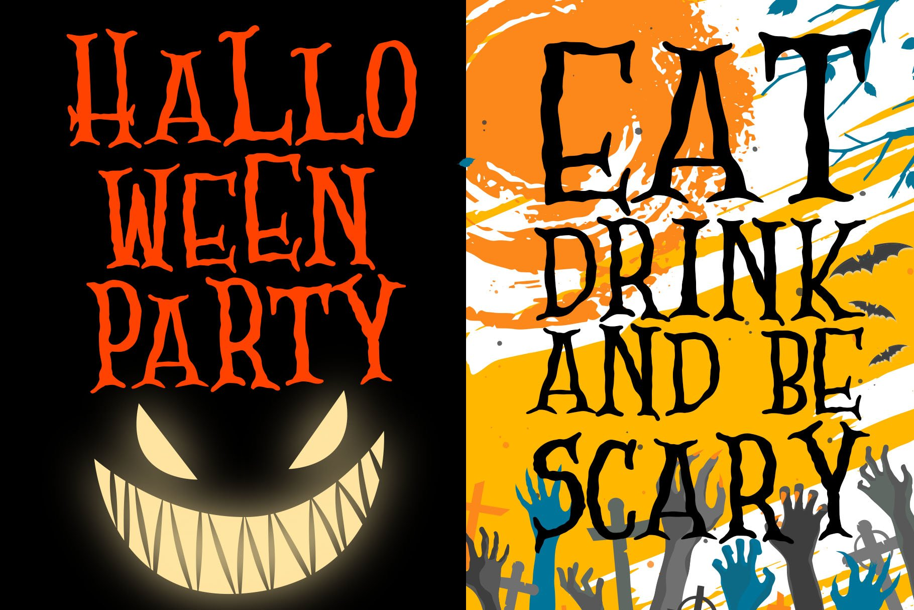 Scary Zombie - Spooky Font example image 3