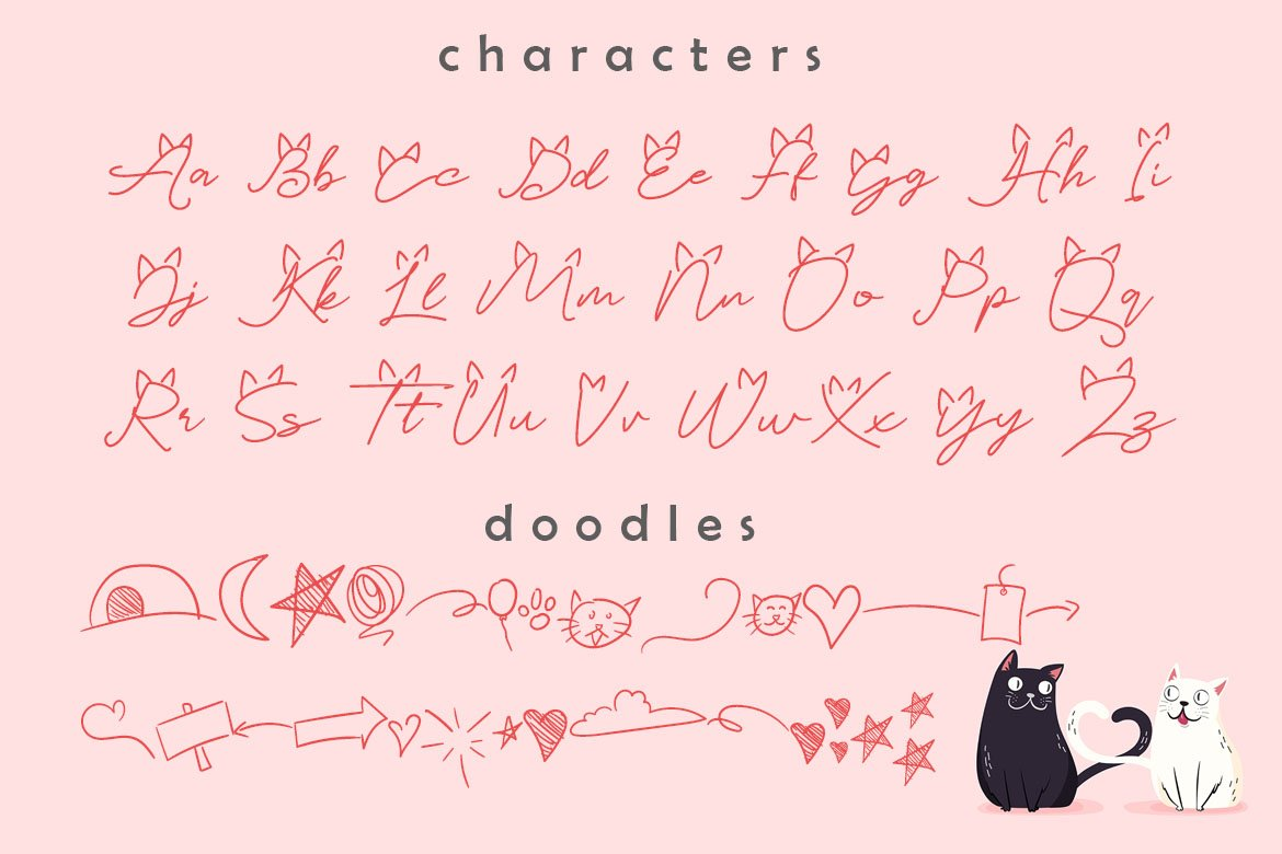 Catlove Lovely Font example image 6