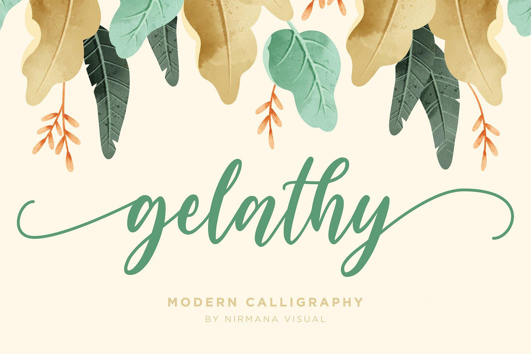 Gelathy - Modern Calligraphy example image 1