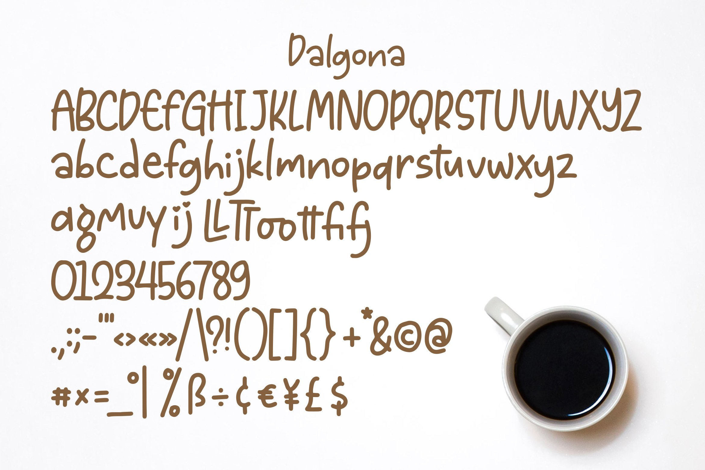 Dalgona - Handlettering Font example image 3