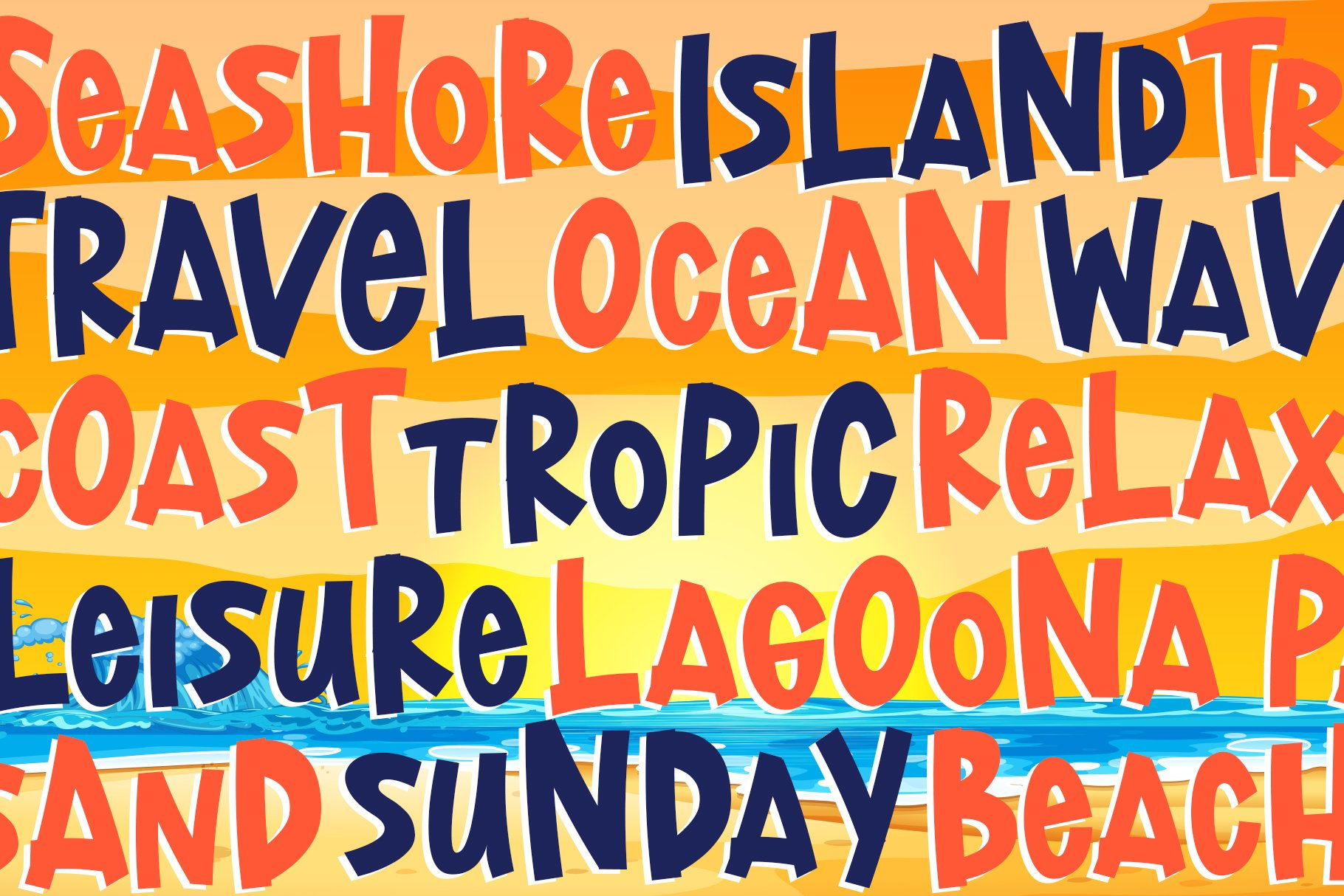 Lost Island - Summer Display Font example image 2