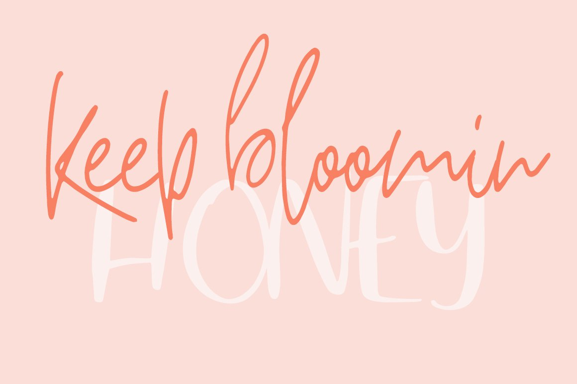 Breathe Slowly / Funny Font Duo example image 2