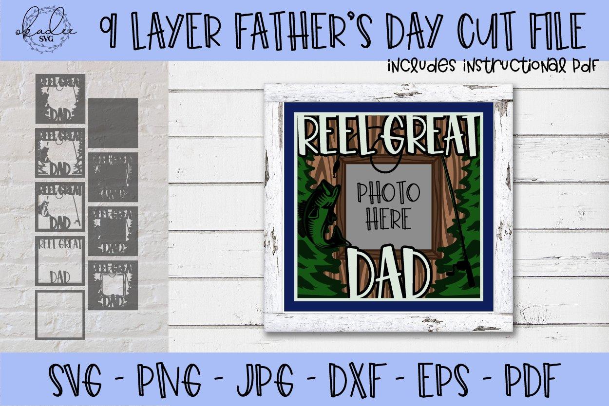 Download Father S Day Svg Fishing Svg 3d Shadowbox Svg Dad Svg 645667 Paper Cutting Design Bundles