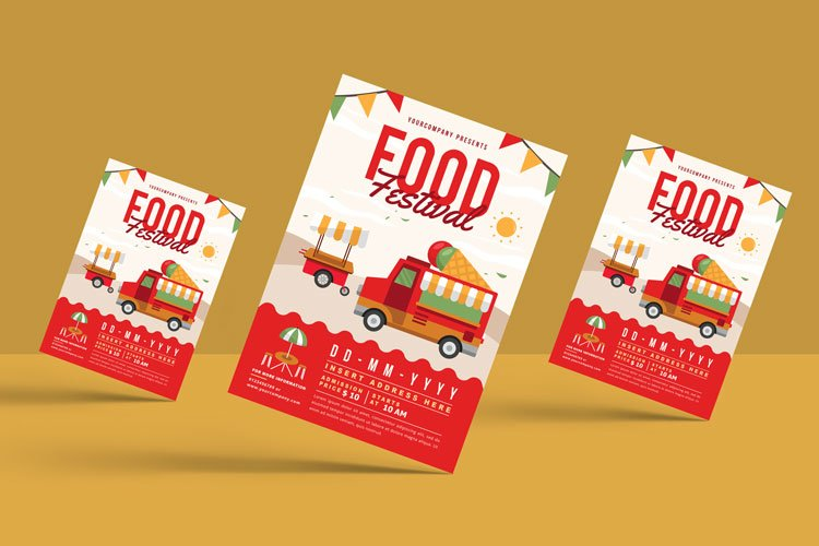 FOOD TRUCK FESTIVAL FLYER 3 example image 2