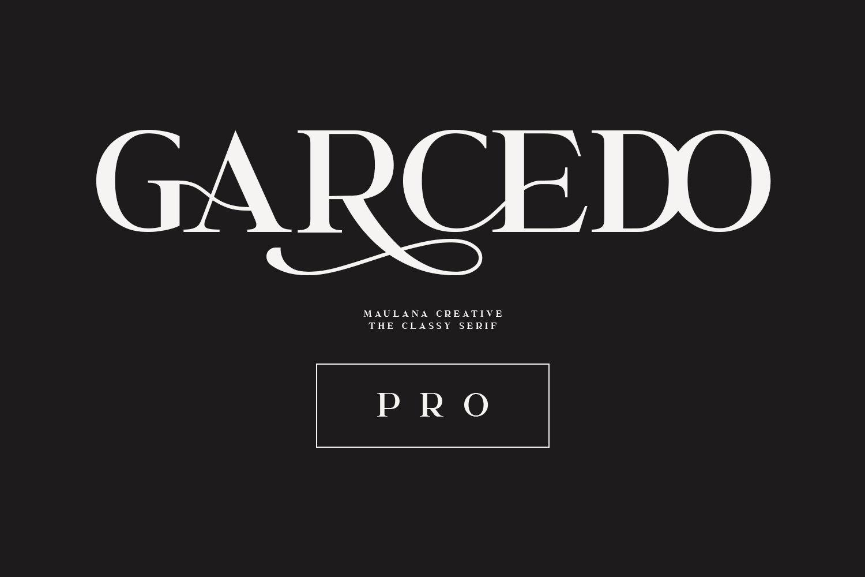 Garcedo Display Serif Font example image 1
