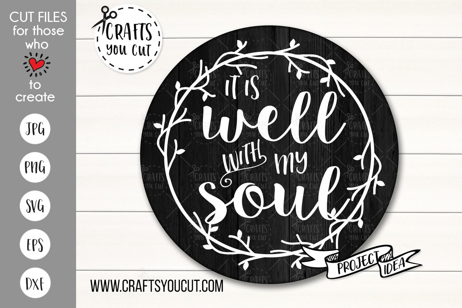 It Is Well With My Soul A Christian Svg Cut File 235556 Svgs Design Bundles