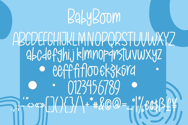 BabyBoom - Fancy Font example image 4