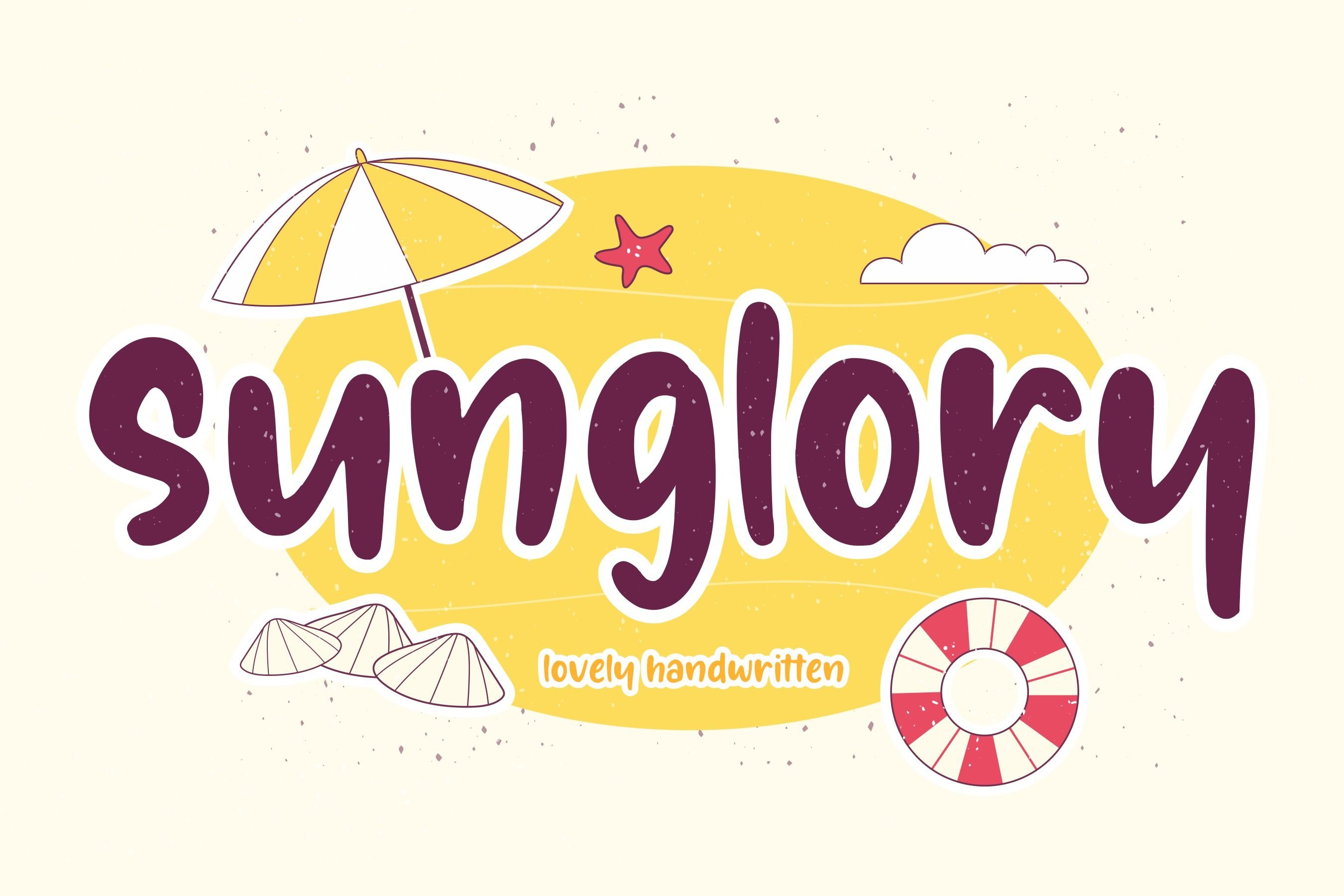 Sunglory Lovely Handwritten Font example image 1