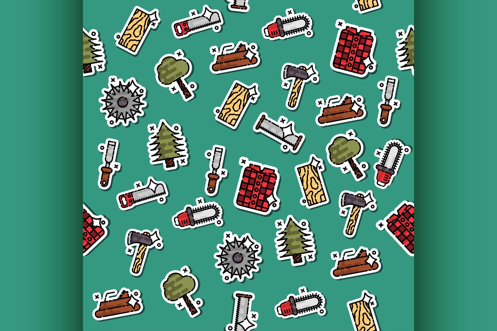 Colored lumberjack pattern example image 1