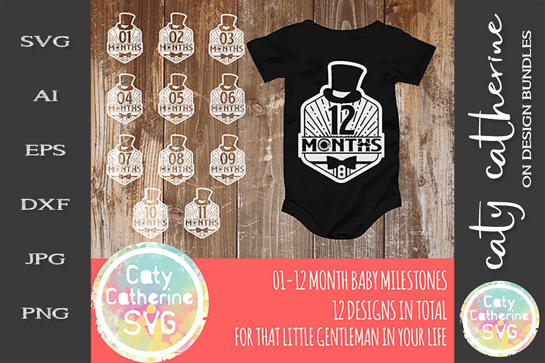 Download Little Gentleman 1 12 Month Old Baby Milestone Design Svg 242933 Svgs Design Bundles