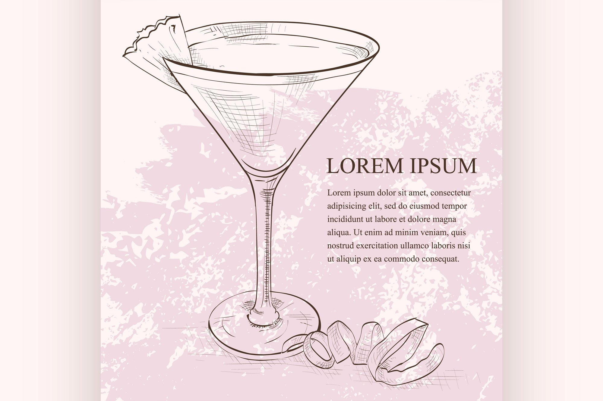 French Martini scetch cocktail example image 1