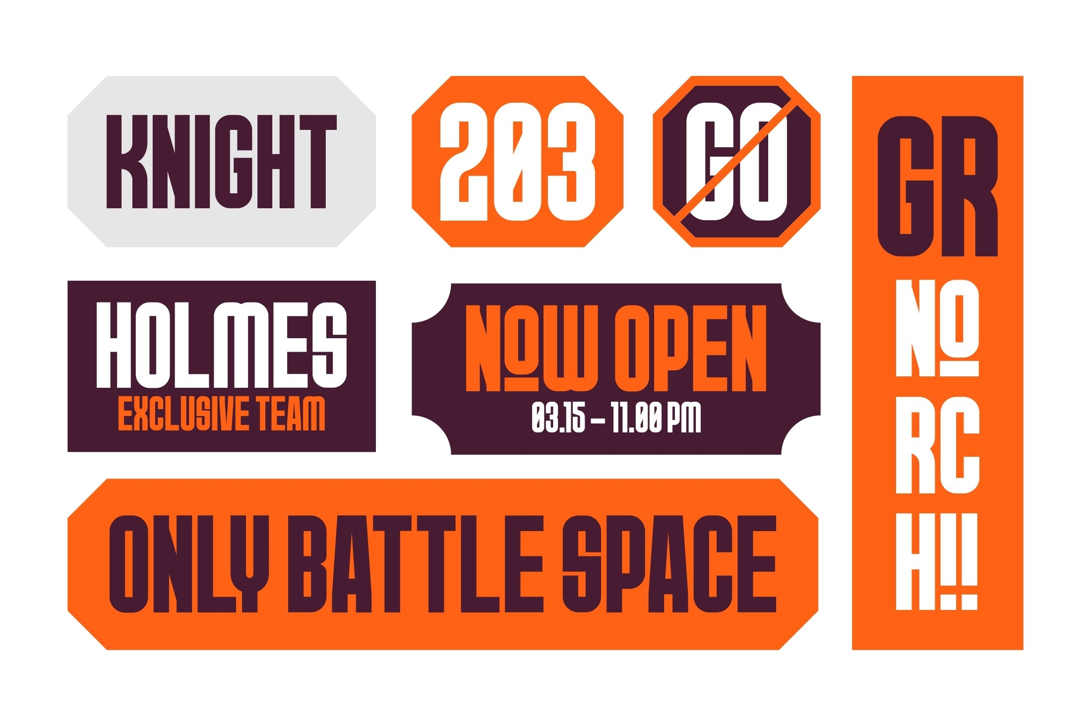 GR Norch - Sports Display Font example image 5