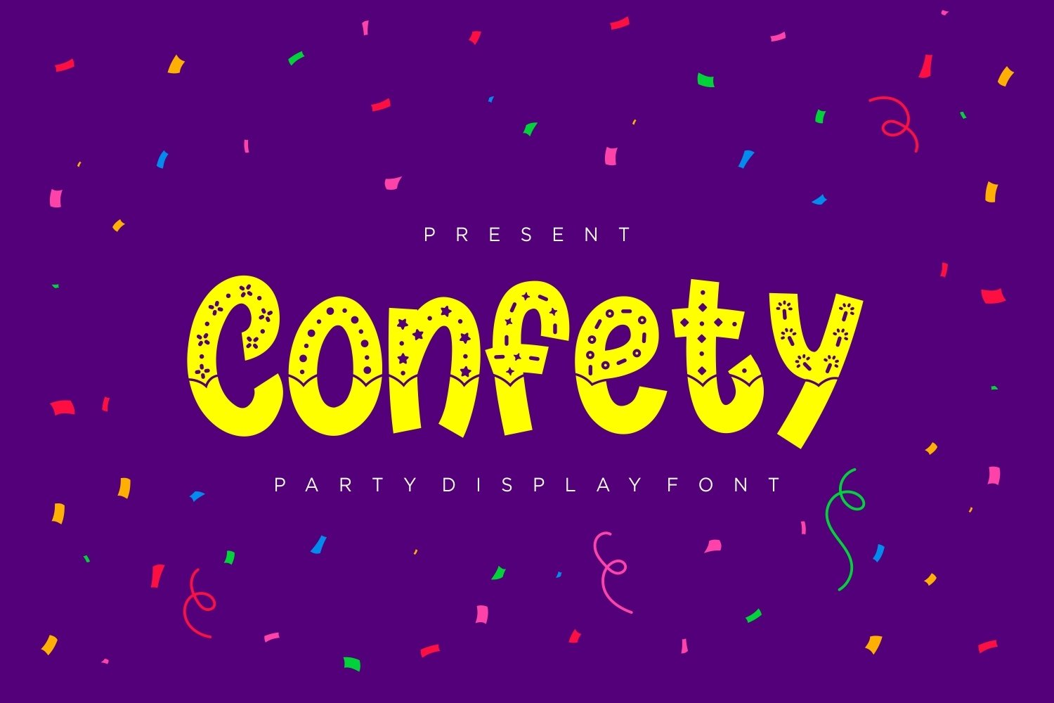 Confety - Party Display Font example image 1