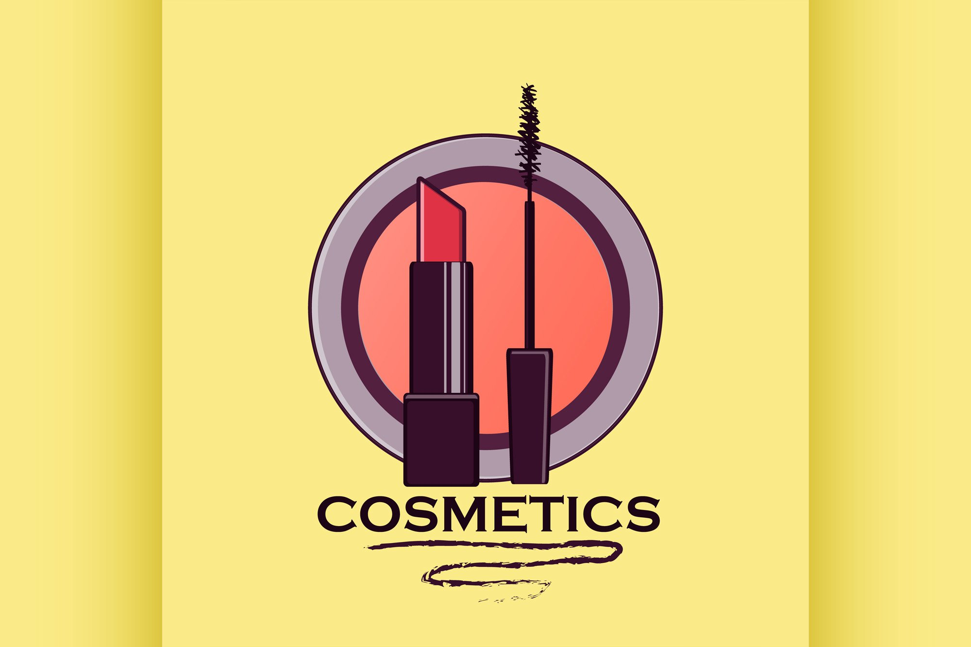Cosmetics label for design example image 1