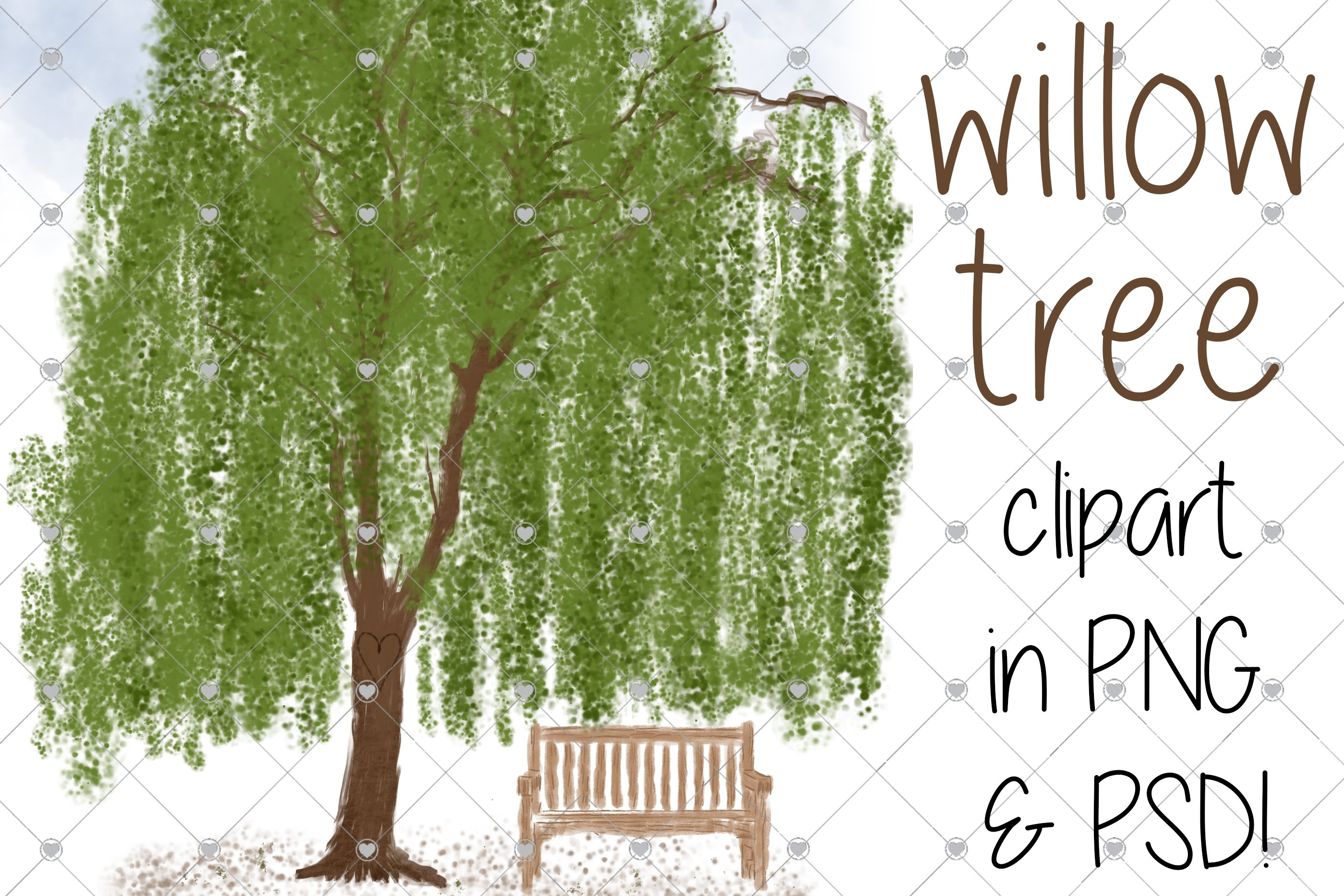 Willow Tree Trees Family Tree 883001 Objects Design Bundles