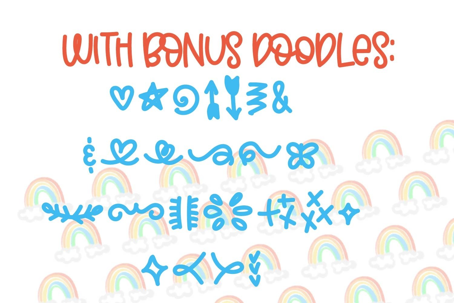 Double Rainbow - A Font Duo with Doodle Extras example image 4