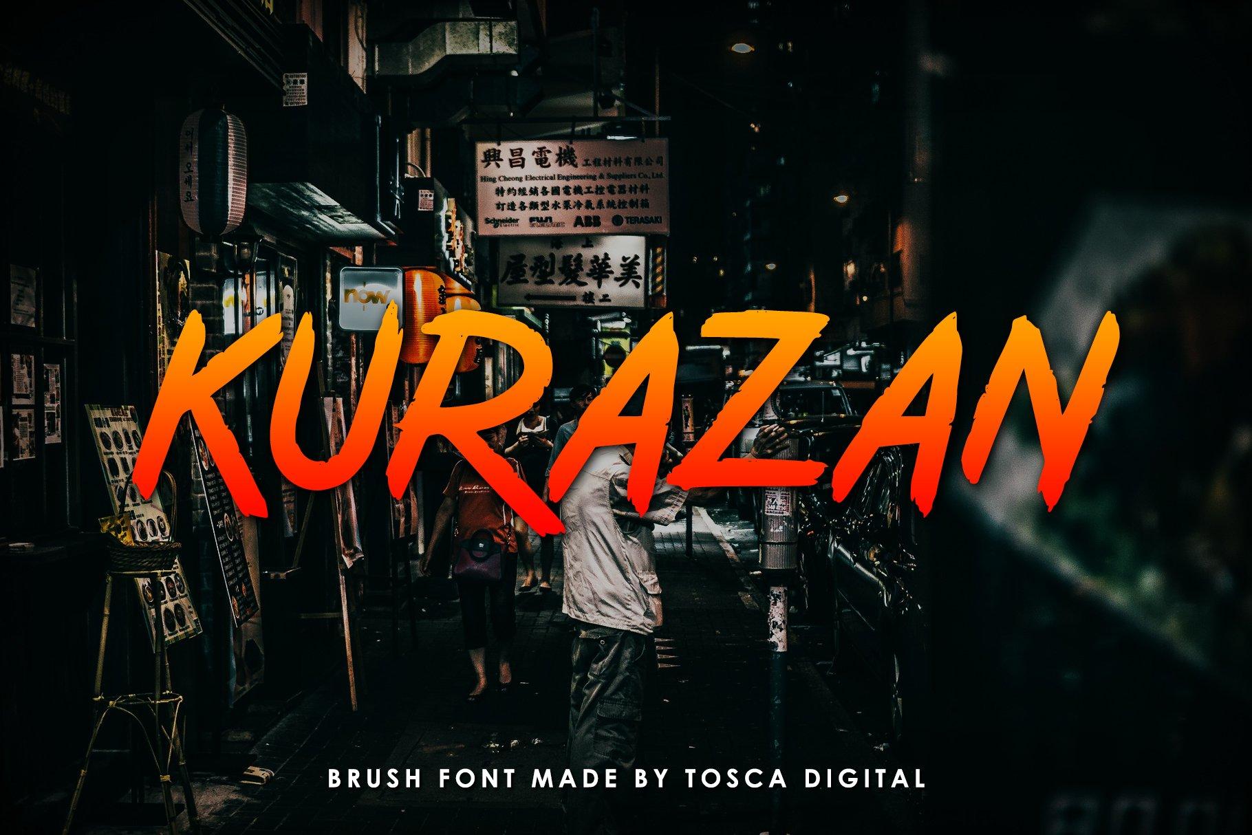 Kurazan Brush Font example image 1