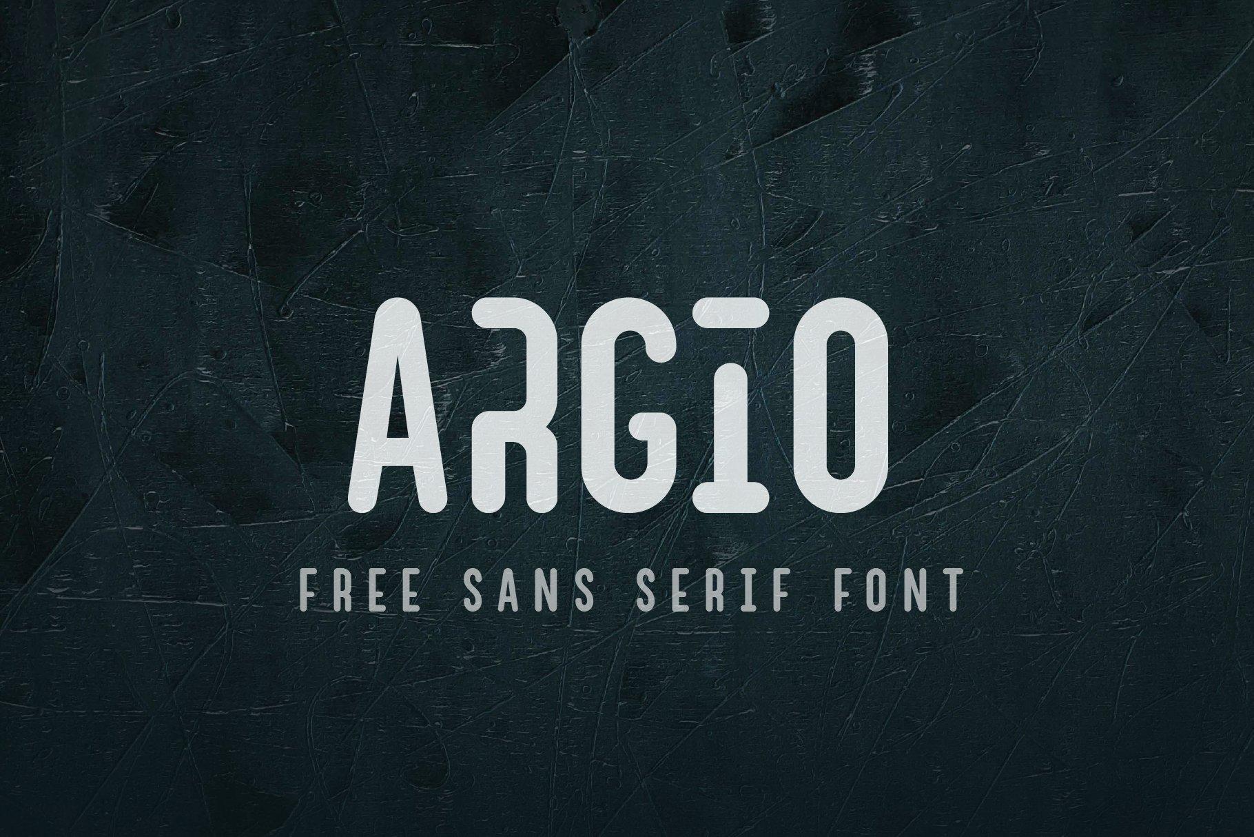 Argio Regular - Sans Serif with optional Stencils example image 1