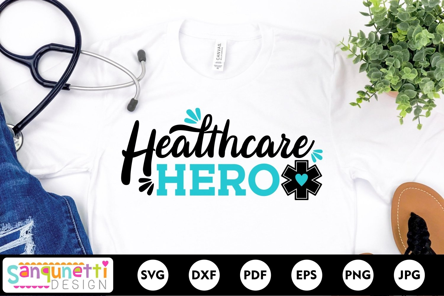 Healthcare hero SVG, nursing and medical svg example image 1